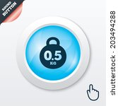 weight sign icon. 0.5 kilogram  ...