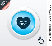 heart sign icon. with love...