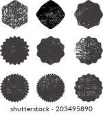 set of grunge stamp  | Shutterstock .eps vector #203495890