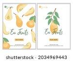 veggie pear eco fruits poster...   Shutterstock .eps vector #2034969443