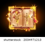 old magic book  vector ancient...