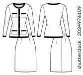 set of suit chanel   style  ... | Shutterstock .eps vector #2034976109