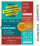 end of summer party poster or... | Shutterstock .eps vector #203499370