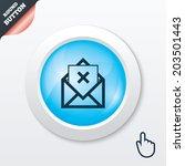 mail delete icon. envelope...