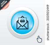 mail print icon. envelope...