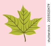 simplicity maple leaf freehand... | Shutterstock .eps vector #2035020479