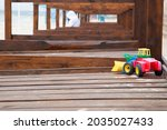 Toy Tractor Forgotten On Empty...