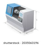 numerically controlled machine... | Shutterstock .eps vector #2035063196