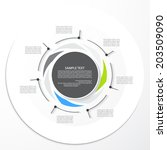 template for your presentation  ... | Shutterstock .eps vector #203509090