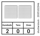 place value chart. one tens and ... | Shutterstock .eps vector #2035102346