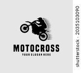 extreme motocross sport logo...   Shutterstock .eps vector #2035103090