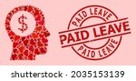 distress paid leave seal  and...   Shutterstock .eps vector #2035153139