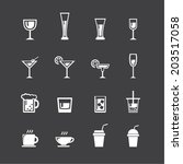 vector.drink icon set | Shutterstock .eps vector #203517058