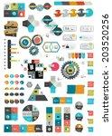 set of various flat infographic ...