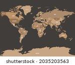 simplified schematic map of... | Shutterstock .eps vector #2035203563