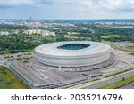 Wroclaw Stadium From A Height ...