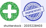 debris mosaic veterinary plus... | Shutterstock .eps vector #2035228403