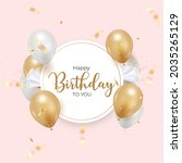 happy birthday background with... | Shutterstock .eps vector #2035265129