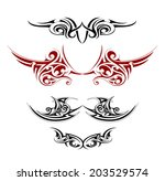 wings tattoo designs | Shutterstock .eps vector #203529574