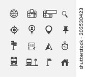 map icons and location icons  | Shutterstock .eps vector #203530423