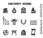 history icons  mono vector... | Shutterstock .eps vector #203531233