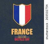 14th july bastille day of... | Shutterstock .eps vector #203532754