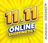 11.11 online shopping day sale... | Shutterstock .eps vector #2035340279