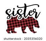 sister bear   handmade... | Shutterstock .eps vector #2035356020