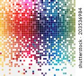 digital squares color mosaic... | Shutterstock .eps vector #203536984