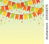 confetti background with... | Shutterstock .eps vector #203538370