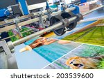 close up of an offset printing... | Shutterstock . vector #203539600
