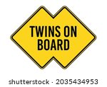 twins on board. humorous funny... | Shutterstock .eps vector #2035434953