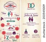 wedding invitation card  ... | Shutterstock .eps vector #203545009
