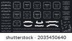 calligraphic design elements .... | Shutterstock .eps vector #2035450640
