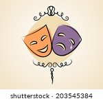 comedy and tragedy theater... | Shutterstock .eps vector #203545384
