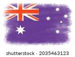 flag of australia in grunge...   Shutterstock .eps vector #2035463123