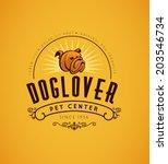 vintage bulldog logo. graphic... | Shutterstock .eps vector #203546734