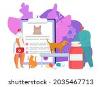 veterinary care in clinic ... | Shutterstock .eps vector #2035467713