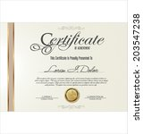 certificate template | Shutterstock .eps vector #203547238