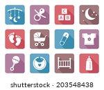 flat baby icons  modern design | Shutterstock .eps vector #203548438