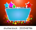 glossy marquee with colorful...   Shutterstock .eps vector #203548786