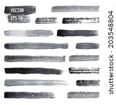 vector watercolor brushes | Shutterstock .eps vector #203548804