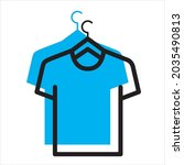 t shirt icon in blue shadow...