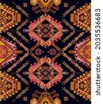 seamless ornamental pattern.... | Shutterstock . vector #2035536683