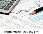 financial accounting stock... | Shutterstock . vector #203557174