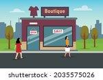 boutique store vector concept ... | Shutterstock .eps vector #2035575026