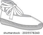editable ballet espadrille for... | Shutterstock .eps vector #2035578260