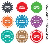 best mom sign icon. award... | Shutterstock . vector #203558956