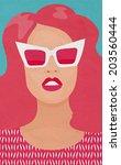 raster poster woman | Shutterstock . vector #203560444