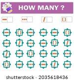 mathematical game for preschool ... | Shutterstock .eps vector #2035618436